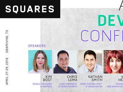 Squares Conference 2016 Flyer flyer print web dev conference