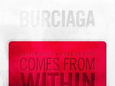 Burciaga red noise grunge scratches grey borders round corners