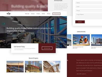 New Construction Website Design simple layout builder construction homepage website