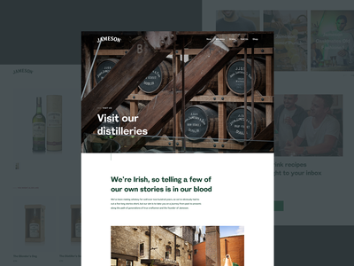Jameson website jameson distillery ecommerce whisky website ux ui typography product design product logo identity experience conception brand