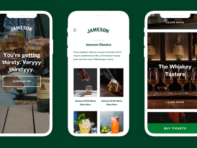 Jameson App shop consumer website strategy project desktop app construction data study studio service content product design ux ui design platform jameson