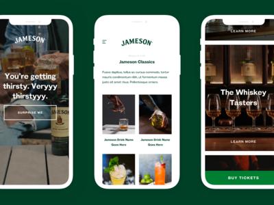Jameson App shop consumer website strategy project desktop app construction data study studio service content product design ux ui design platform jameson