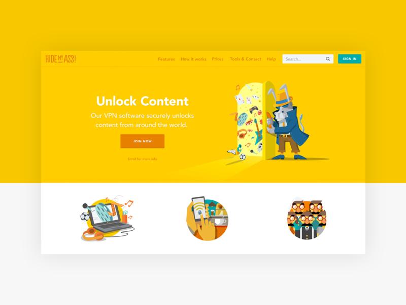 HMA website project desktop app study studio service product design ux ui design block content software vpn hma