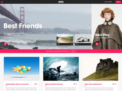 Lyfstyl media entertainment blog editorial ux ui homepage website