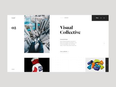 Grand website homepage ui ux fashion editorial blog minimal