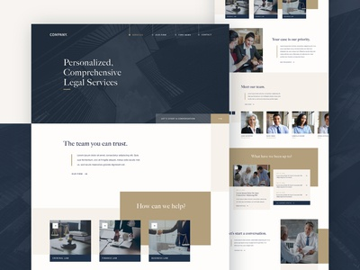 Lawyer & Attorney Web Design Concept luxury ui ux blue legal landing page corporate homepage website web design attorneys law firm lawyers lawyer
