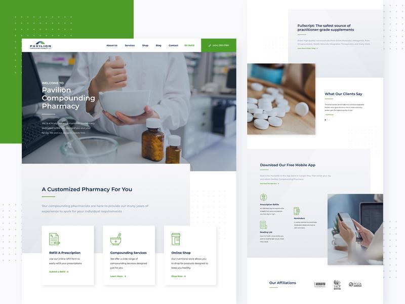 Compounding Pharmacy Web Design online medicine landing page home page healthcare product medical website web design ux ui pharmaceutical pharma medicine ecommerce compounding