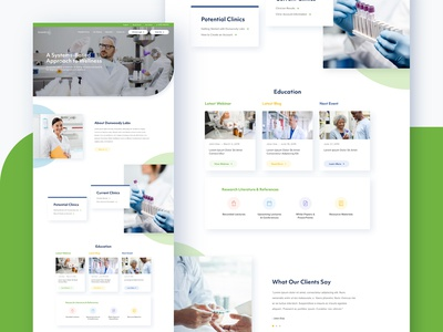 Medical Testing & Healthcare Web Design blog practitioner landing page medical conditions clinician research education clinic testing health healthcare ui ux doctor wellness modern homepage website medicine medical