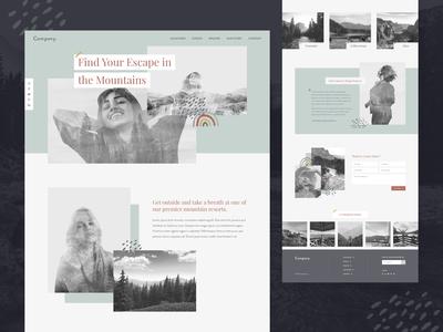 Mountain Retreat Homepage Concept