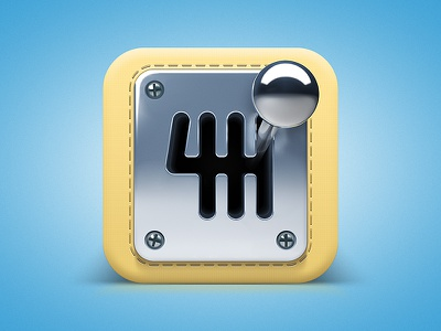 Gearbox Icon ios icon gearbox car automotive gear stick gear stick