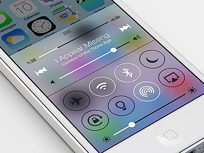iOS 7 Control Center Concept ios iphone ios 7 ios7 concept