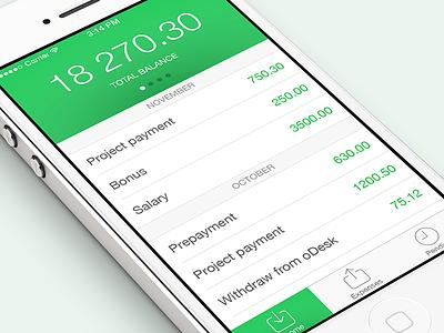 Expenses App ui iphone finance ios 7