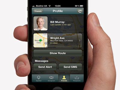 Profile ios iphone android ui social geo