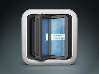 App Icon ios icon door glass