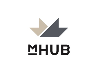 mHUB Identity business cards typography logo mnml identity brand mhub