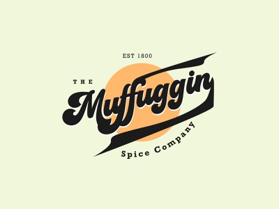 Muffuggin Logo typography vector illustration web ui concept logo brand