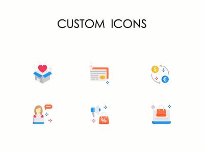 Custom Multicolor Icons icon design icon illustration art iconography illustration icons custom icons