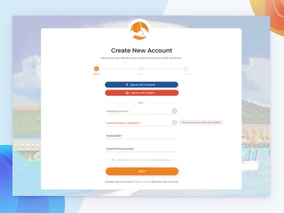 Create New Account for a Project project a for account new create
