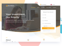 Landing Page for Bitcoin