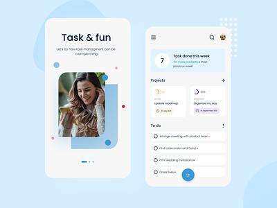 App for task management ✅ concept design ui management task design uxui mobile app