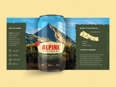 DS Containers :: Beer Can Label badge logo craft beer packaging brewery typography alpine illustration beer beer label beer branding beer can mock-up
