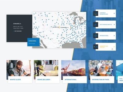 AGS Logistics :: Infographics industry dashboard clean logistics modern uiux industrial faq blog icons button navigation slider locations features about services map website web
