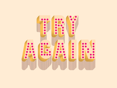 Just Try lettering letters vector design texture grain cheesecake motivation