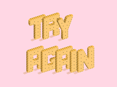 Leibniz butter biscuits isometric illustration grain texture design vector typography lettering personal project