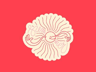 Sun Stories - Summer sun stories badge sticker circular sun summer personalproject monoline cute texture vector illustration