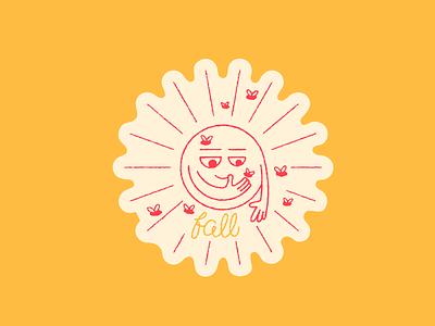 Sun Stories - Fall seasons autumn fruit fly personal project sun stories sun monoline vector texture hand drawn illustration ill cute fall