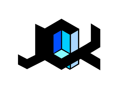 JCK Photography Logo 3d typography geometric logo