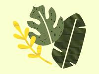 Loose Leaves Digital Collage