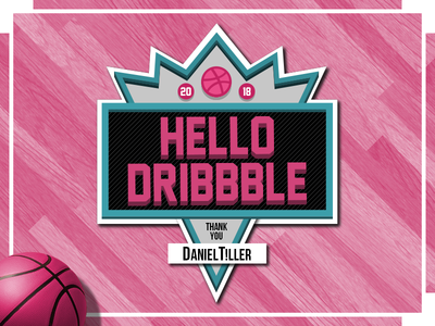 Hello Dribbble slam dunk 90s pink basketball nba jam dribbble hello dribbble
