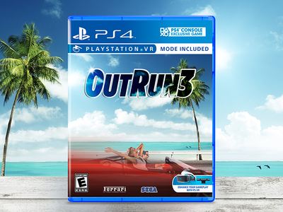 OutRun 3 vr video game sports car ferrari playstation ps4 outrun sega
