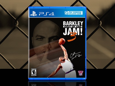 Barkley: Shut Up and Jam! 3 | PS4 Cover michael jordan ps4 nintendo sega playstation accolade basketball nba charles barkley