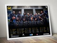 UC Berkeley | Women's Basketball Team Poster 2013-14