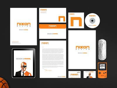 My Brand Identity basketball game boy nixon logo identity brand