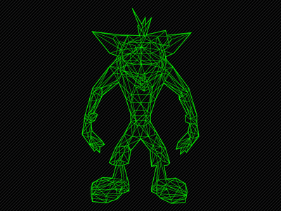 Crash Bandicoot Wireframe