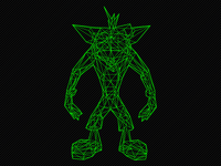 Crash Bandicoot Wireframe