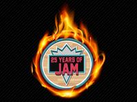 '25 Years of Jam' Logo