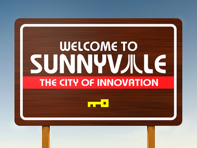 Atari | Welcome to Sunnyvale Sign
