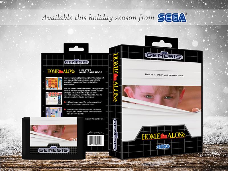 Home Alone | Alternate Sega Video Game Cover nintendo retro video game sega genesis sega home alone