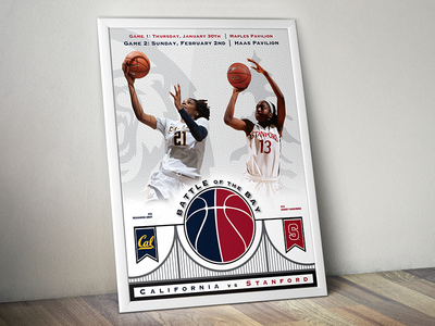UC Berkeley | Women's Basketball 'Battle of the Bay' Poster