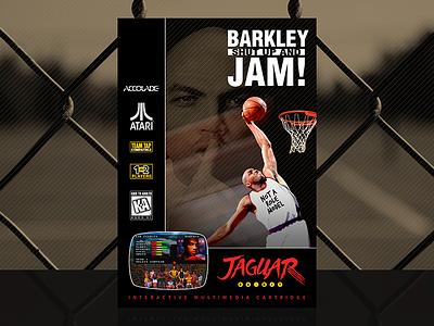 Barkley: Shut Up and Jam! | Custom Atari Jaguar Cover accolade jam barkley shut up and jam retro video game atari jaguar jaguar atari basketball nba charles barkley