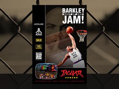 Barkley: Shut Up and Jam! | Custom Atari Jaguar Cover