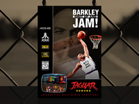 Barkley: Shut Up and Jam! | Custom Atari Jaguar Cover