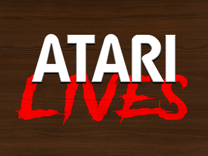 Atari Lives woodgrain 80s 70s retro video games atari