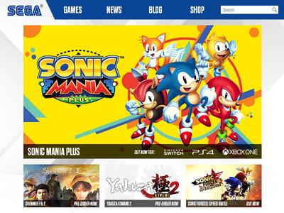 Sega.com Home Page UI home page website ux ui sonic sega