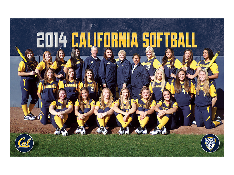 Uc Berkeley 2014 Softball Roster Card By Evan ϟ Nixon Dribbble