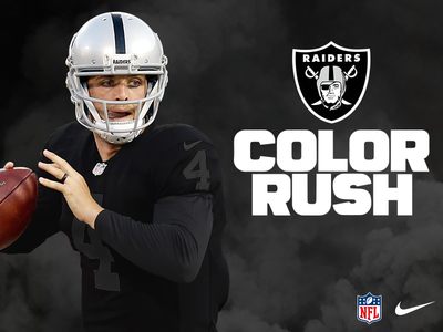 Oakland Raiders | Color Rush – Blackout raiders football derek carr uniform nike nfl oakland raiders